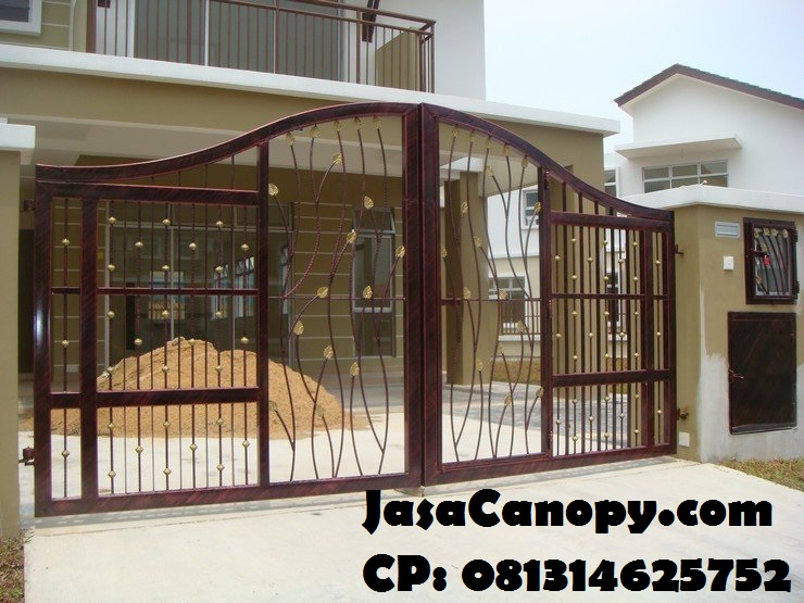 Contoh Model Pagar Besi Minimalis 2017 Jasa Canopy Murah Jakarta Tangerang 085781312779